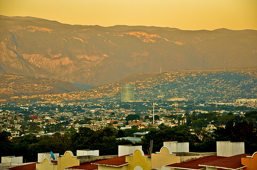 The city of Tuxtla Gutiérrez in Chiapas, Mexico.