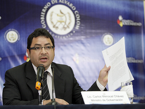 Guatemalan Interior Minister Carlos Menocal.