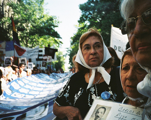 The Madres de la Plaza de Mayo, who have been marching since 1977 to find Argentina's disappeared. Photo by Ariel Monno.