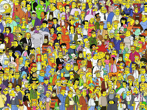 "Characters from TV show ""The Simpsons""."