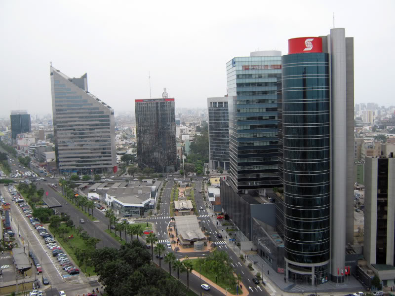 Lima's financial center of San Isidro.