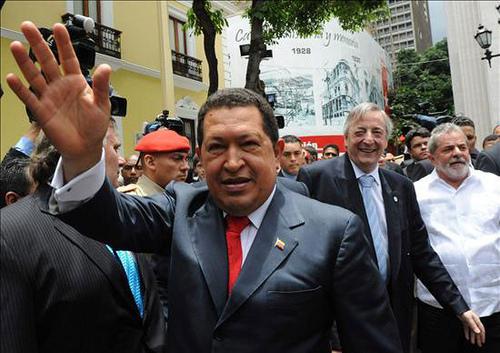 Venezuelan President Hugo Chávez.