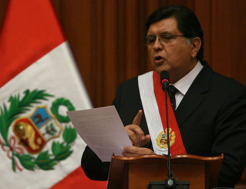 Peruvian President Alán García hinted at pardoning Alberto Fujimori.