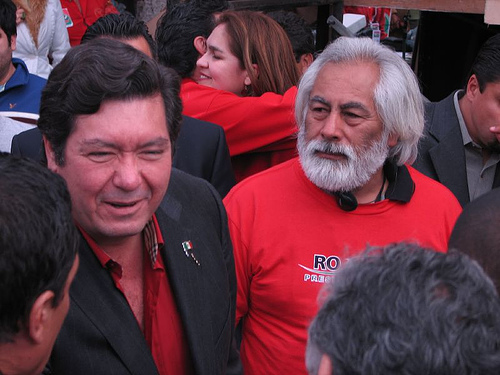 Former Tijuana Mayor Jorge Hank Rhon (Left) With Supporters.