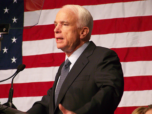 Arizona Republican Senator John McCain.