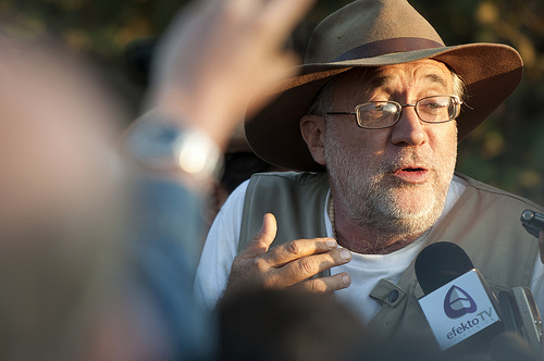 "Mexican Poet-Activist Javier Sicilia during the ""Caravan For Peace."""