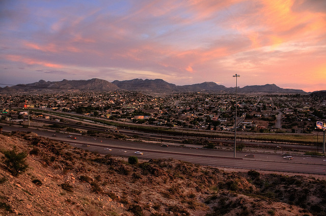 Sunset over El Paso