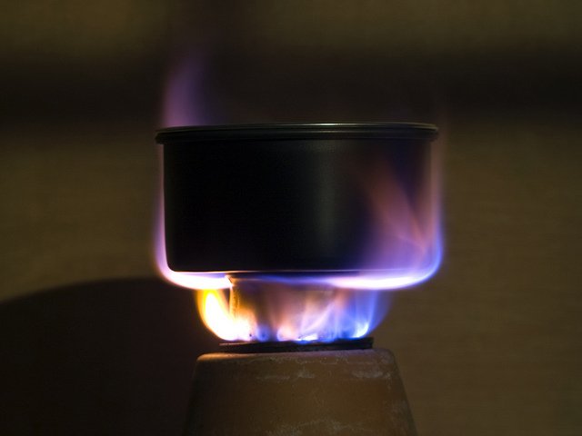 Fire-methanol