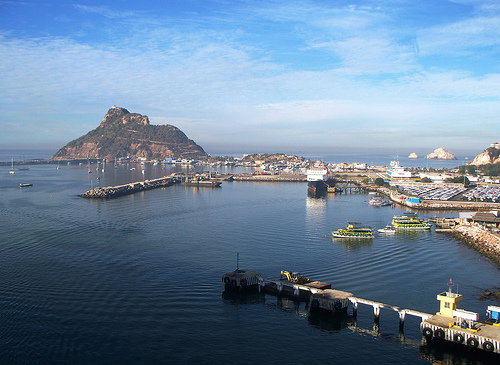 The port in Mazatlán, Mexico.