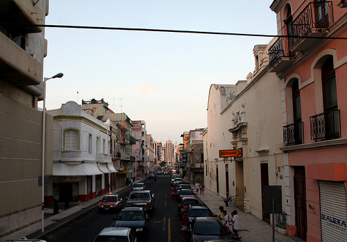 A street view of the city of the Veracruz.