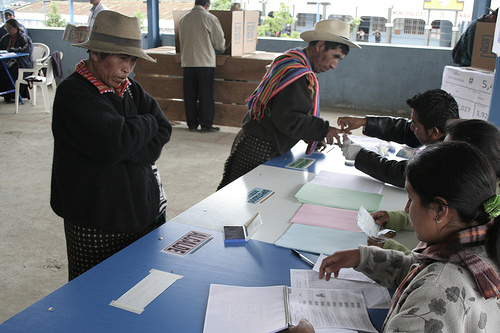 Guatemalans voting during the last presidential election.