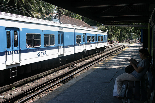 A train in Buenos Aires similar to the one in Tuesday's accident.