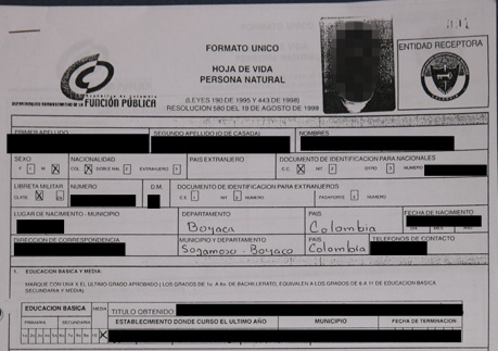 A redacted image of one of the leaked DAS documents. (Semana)