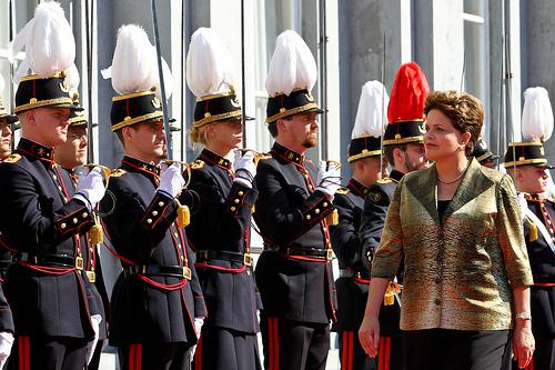 Brazilian President Dilma Rousseff in Brussels, Belgium.