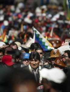 Bolivian President Evo Morales, whose MAS party suffered losses in regional elections.