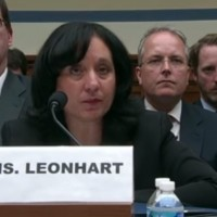 DEA Administrator Michele Leonhart at a recent congressional hearing on agent misconduct in Colombia. (YouTube, screenshot)
