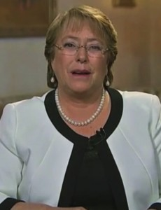 (Chilean President Michelle Bachelet, Youtube)