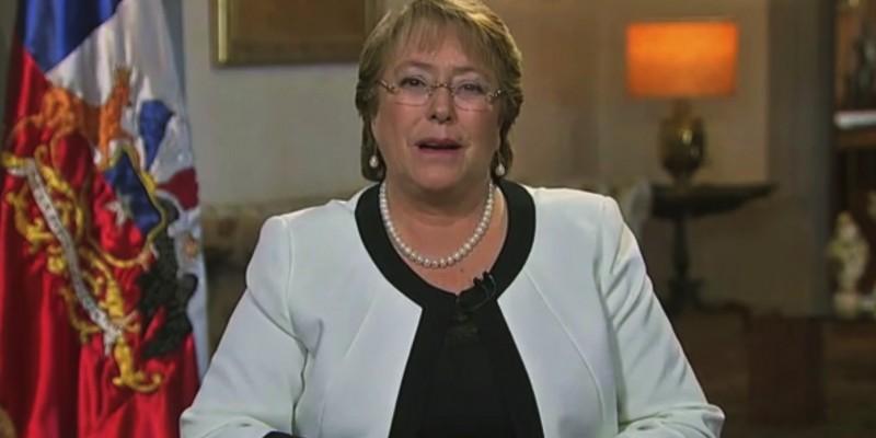 (Chilean President Michelle Bachelet, Youtube)