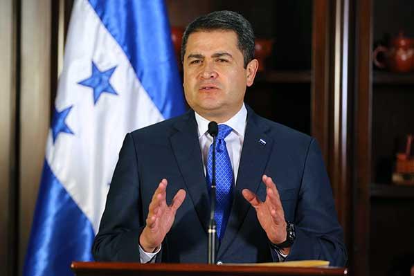 Image result for Honduras' President Juan Orlando Hernandez