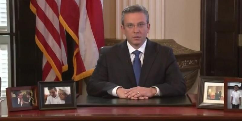 Puerto Rican Gov. Alejandro García Padilla speaks about the U.S. commonwealth's economic crisis in a televised address to the public. (Image: La Fortaleza, public domain)