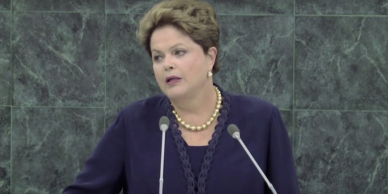 Rousseff during her 2013 speech to the United Nations General Assembly. (Image: Youtube, screenshot)