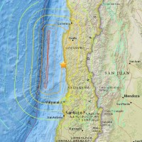 The location of an 8.3 magnitude earthquake, which struck on Wednesday near the Chilean town of Illapel. (Image: United States Geological Survey)