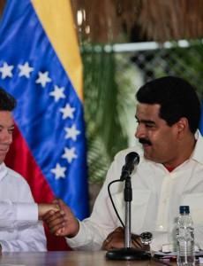 Santos and Maduro in 2013. (Image: Government of Venezuela.)