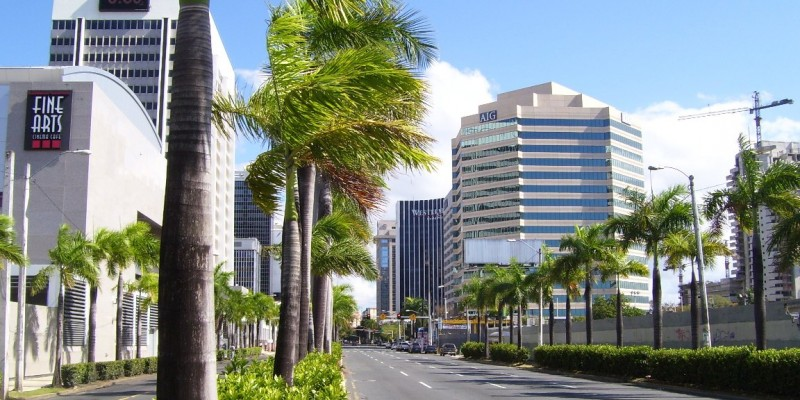 "San Juan, Puerto Rico's Milla de Oro financial district, dubbed the ""Wall Street of the Caribbean."" (Image: Carlo Giovannetti, CC BY-SA 3.0)"