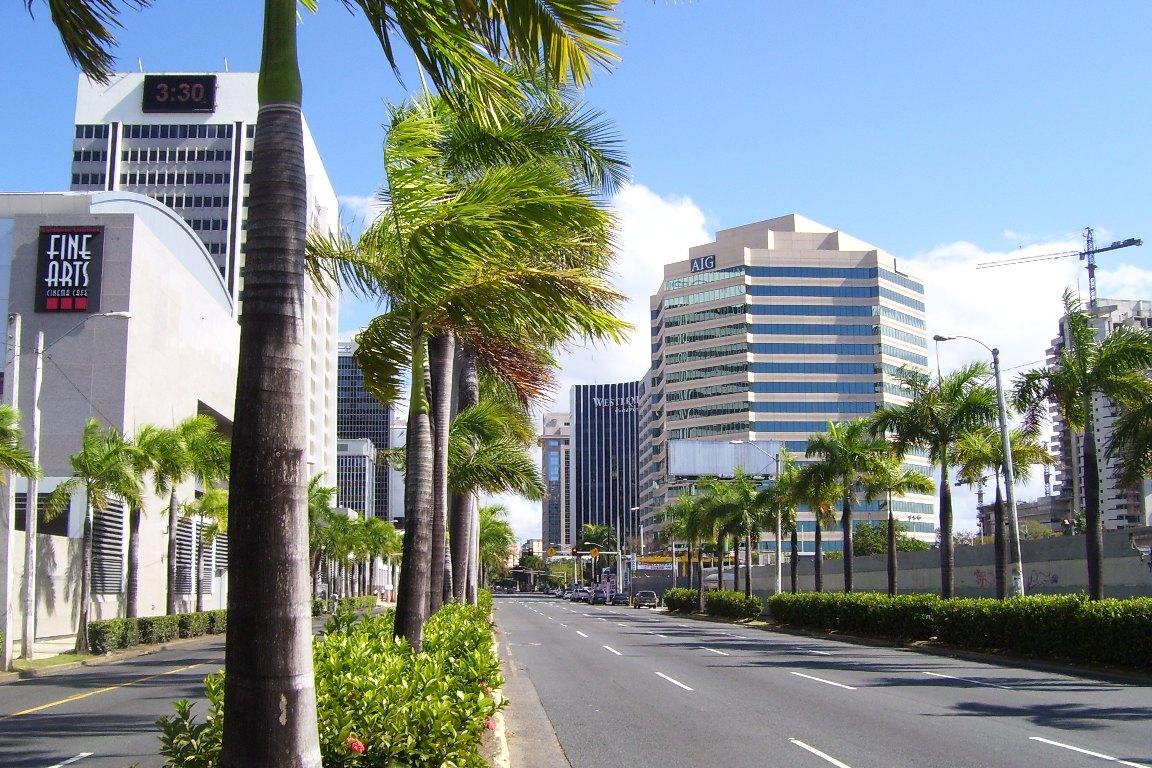 "San Juan, Puerto Rico's Milla de Oro financial district, dubbed the ""Wall Street of the Caribbean."" (Image: Carlo Giovannetti, CC BY-SA 3.0)"