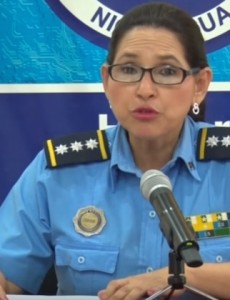Nicaragua's Police High Commissioner Vilma Rosa González held a press conference on Sunday regarding border crossing attempts by Cuban migrants. (Image: YouTube, screenshot)