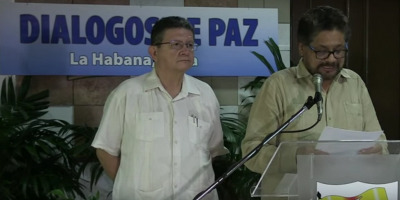 Iván Márquez, lead FARC negotiator at peace talks in Havana, rejected Monday a plebiscite for a future peace deal's final approval. (Image: YouTube, screenshot)