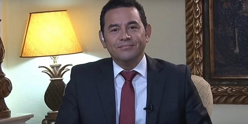Guatemalan President Jimmy Morales. (Image: Youtube)