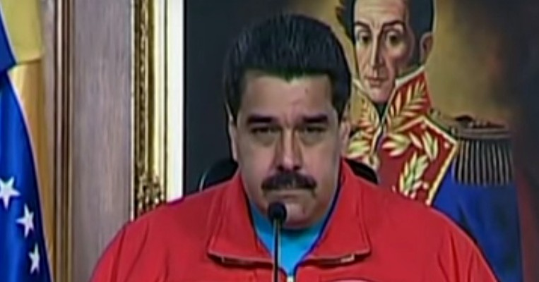 Venezuelan President Nicolás Maduro in a televised address following the announcement of Sunday's election results. (Image: YouTube, screenshot)