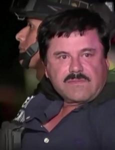 "Joaquín ""El Chapo"" Guzmán following his capture on Friday (Image: YouTube, screenshot)"