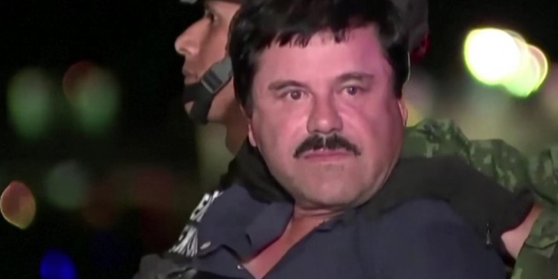 "Joaquín ""El Chapo"" Guzmán following his capture on Friday (Image: YouTube, screenshot)"