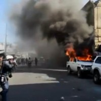 Protests in Port-au-Prince on Monday. (Image: Euronews, YouTube)