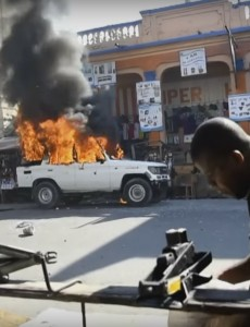 Protests have gripped Haiti in recent days. (Image: Youtube)