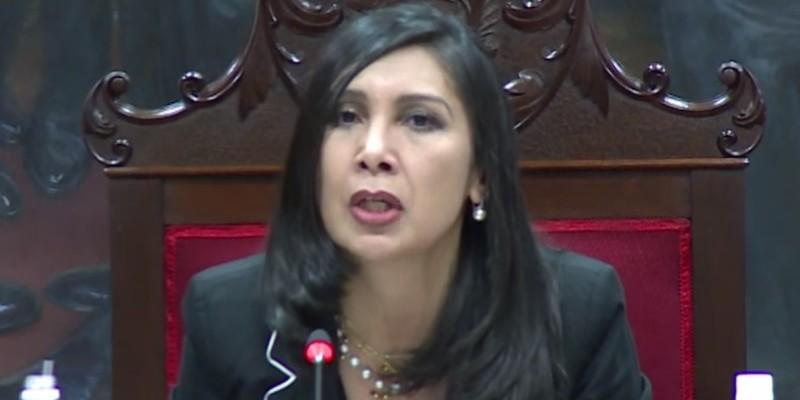 Supreme Court President Gladys María Guitiérrez Alvarado announces the Decision to Invalidate Venezuela's National Assembly. (Image: YouTube, screenshot)
