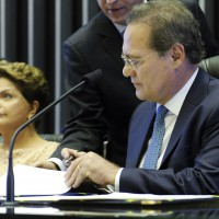 Brazil's President Dilma Rousseff and the Senate leader Renan Calheiros. (Image: Brazilian Senate, CC BY 2.0)