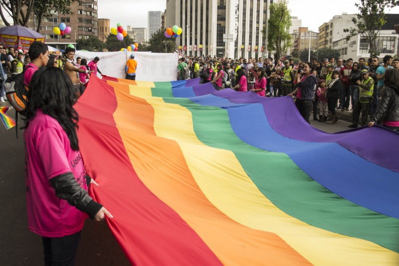A 2013 LGBT rights march in Bogotá. (Image: Diego Cambiaso, CC BY-SA 2.0)