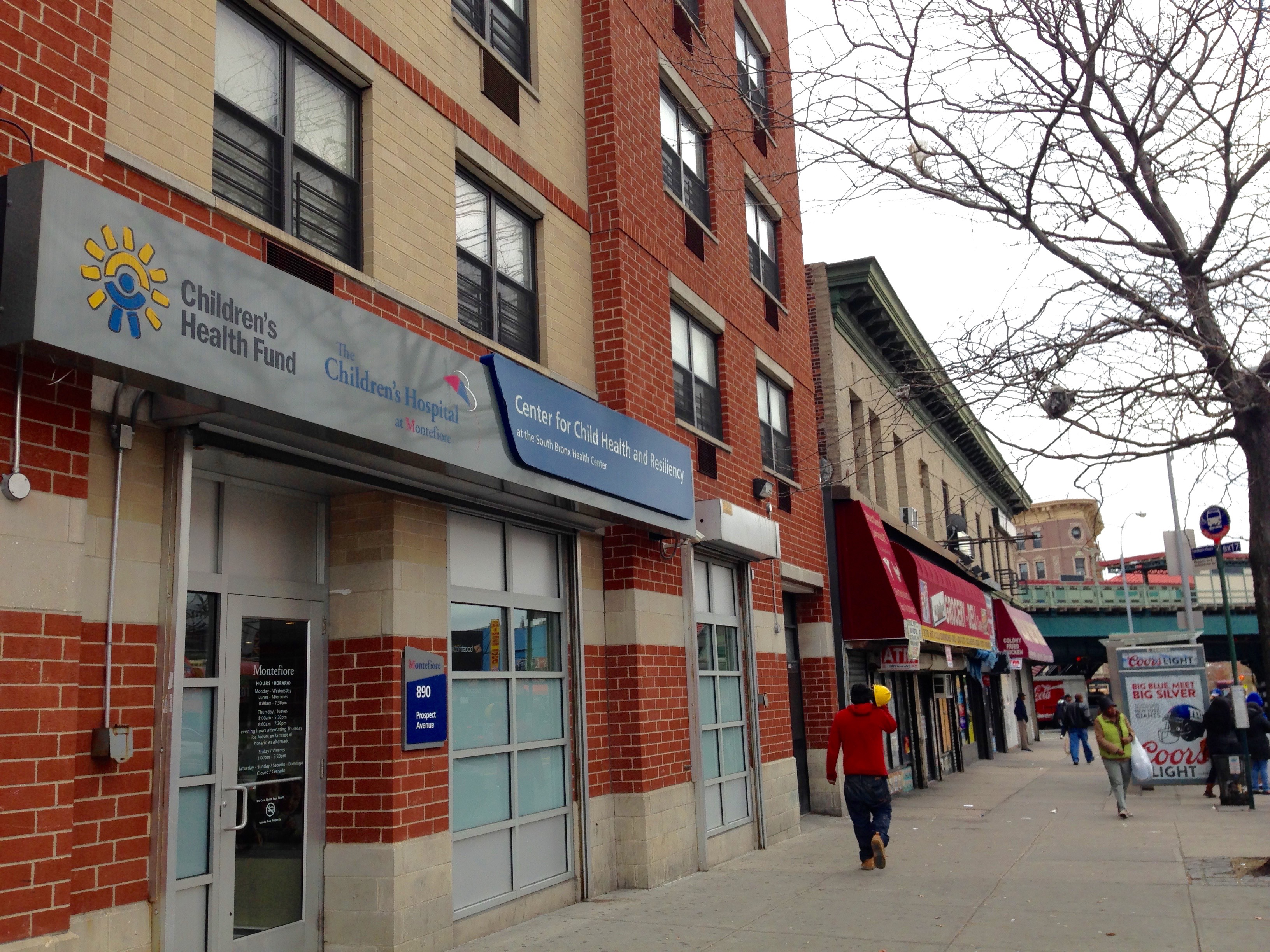 Outside of the Bronx offices of Terra Firma, a medical-legal partnership focused on immigrant youth in New York (Image: Katie Schlechter)