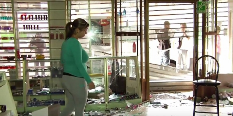 A Maracaibo Shop Manager Surveys Her Looted Store (Youtube)