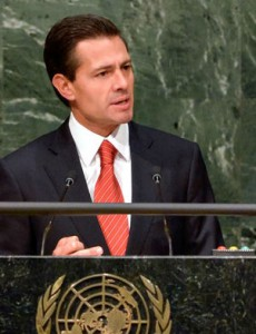 Mexican President Enrique Peña Nieto speaking at in New York at a special session of the U.N. General Assembly focused on the global drug problem. (Image: Presidencia de México)