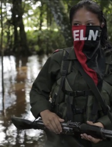 ELN rebel fighter.