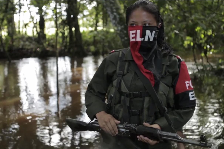 ELN rebel fighter.