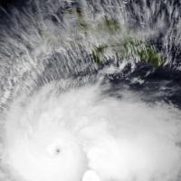 Hurricane Matthew at peak intensity.