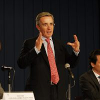 Former Colombian President Alvaro Uribe.