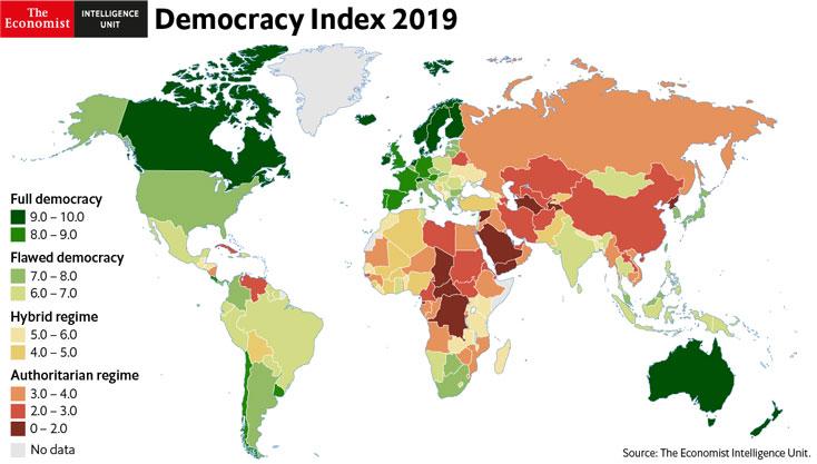 Image result for democracy index