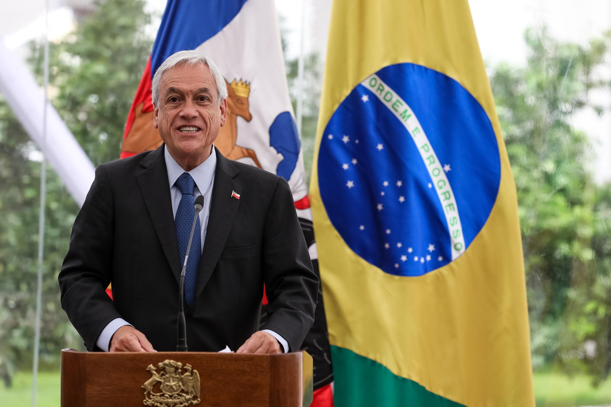 Chilean President Sebastián Piñera by Marcos Corrêa/PR via Flickr.