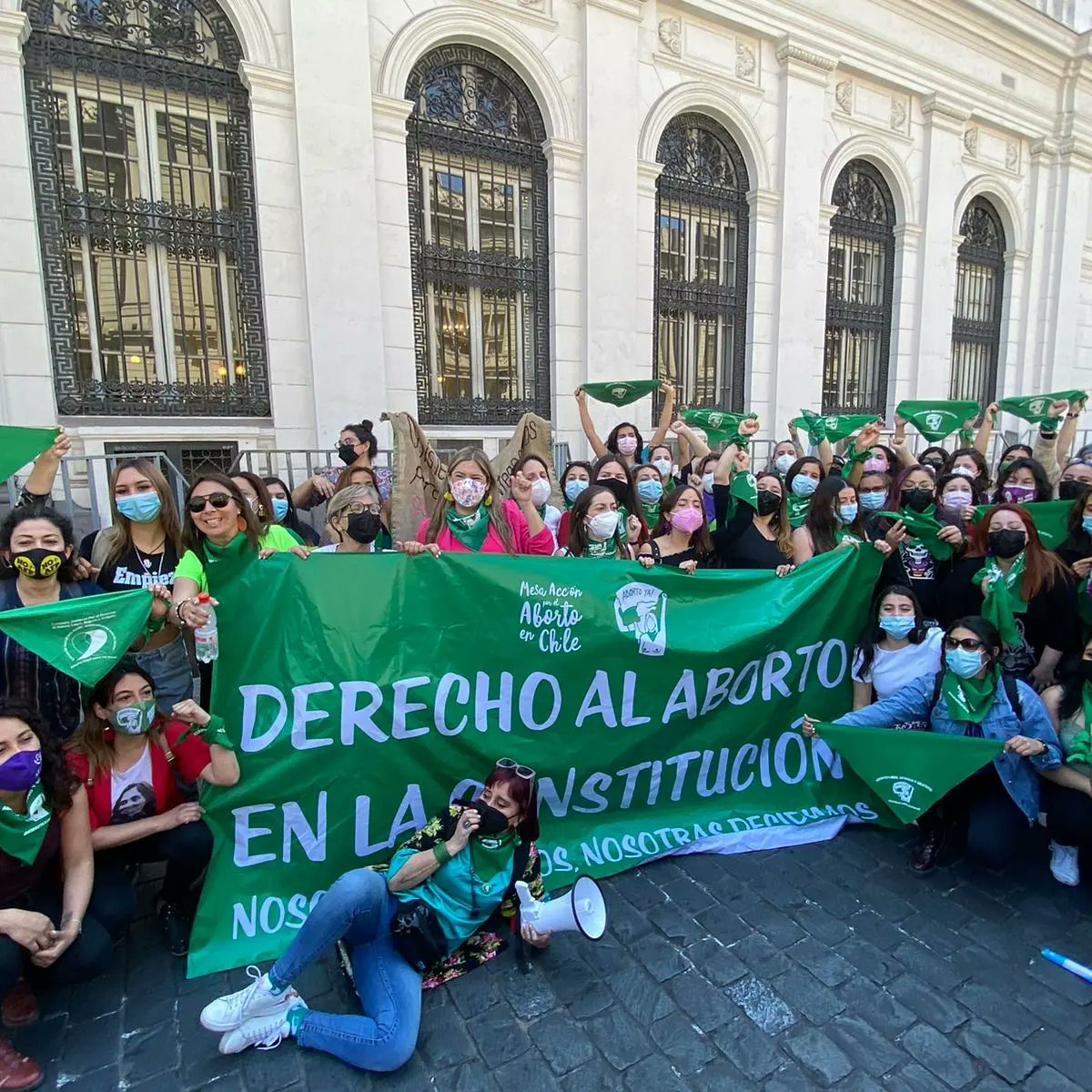 Latin American and Caribbean women demonstrate in support of International Safe Abortion Day